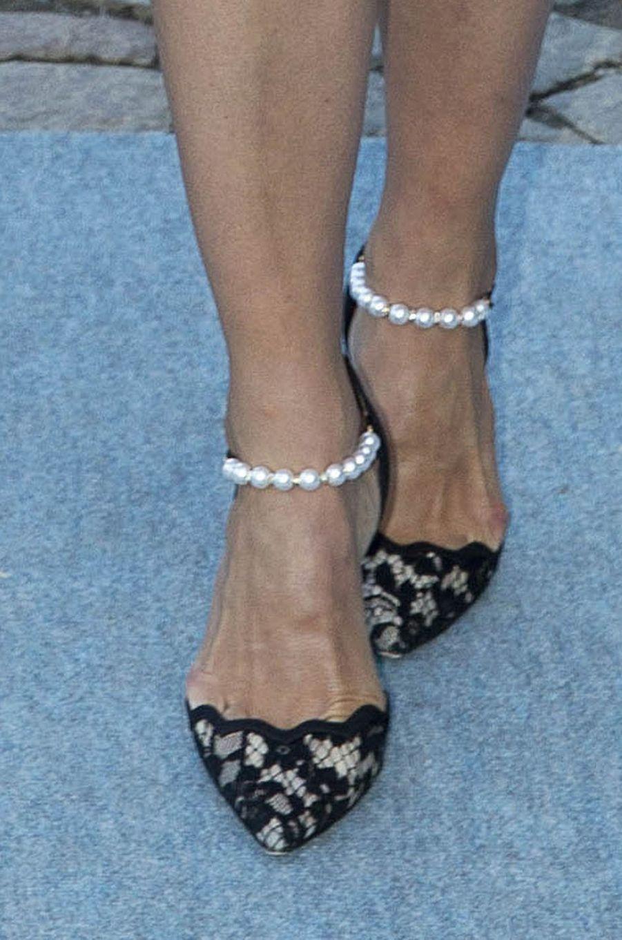 Les souliers de la princesse Madeleine de Suède à Stockholm, le 29 avril 2016