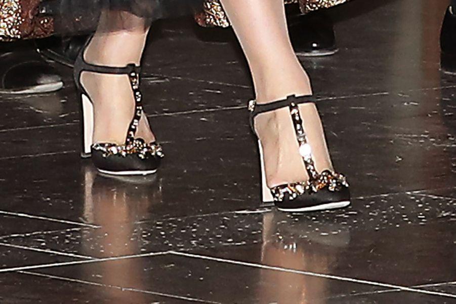 Les souliers de la princesse Victoria de Suède à Stockholm, le 29 avril 2016