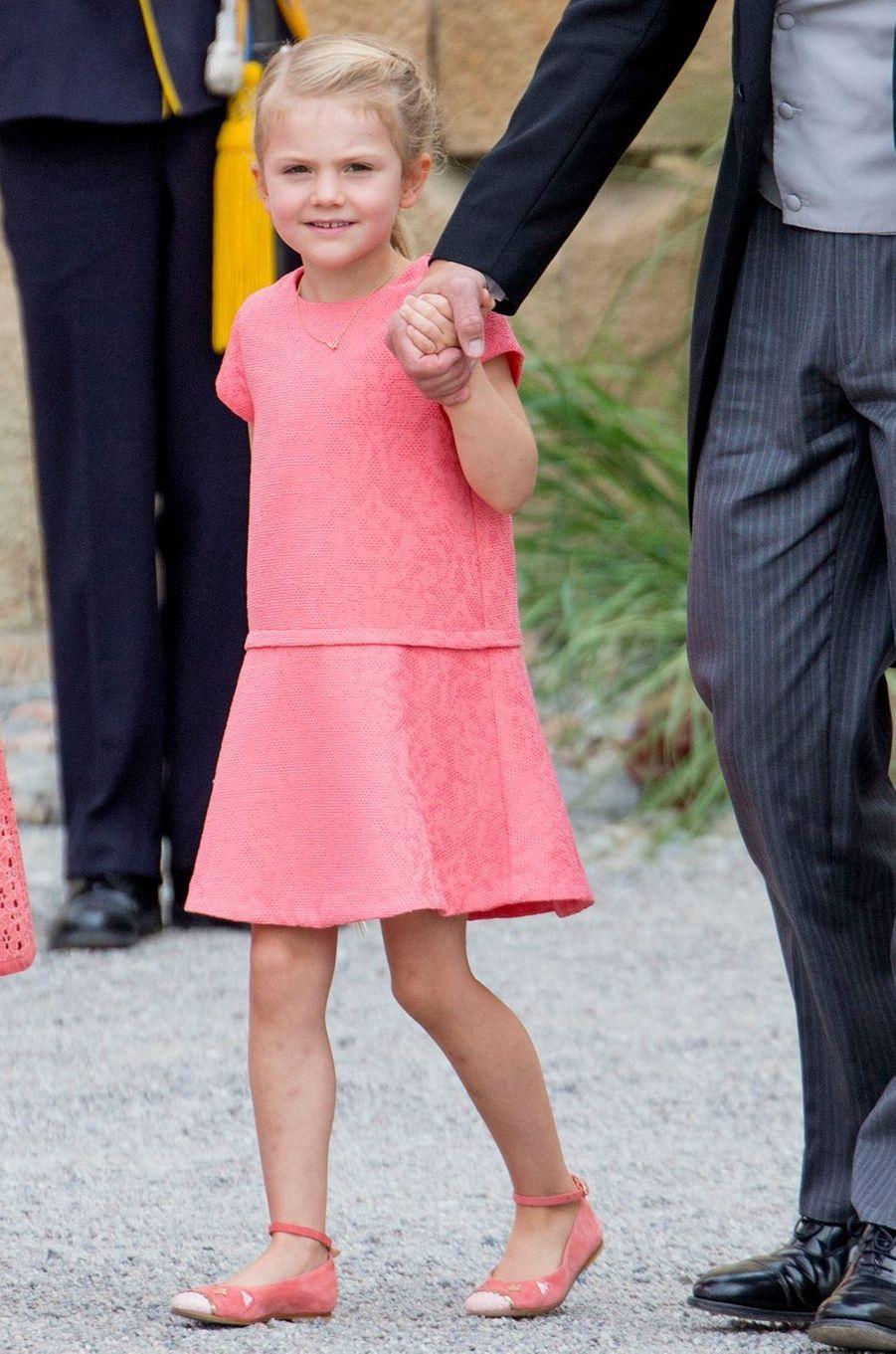 La princesse Estelle de Suède à Stockholm, le 9 septembre 2016