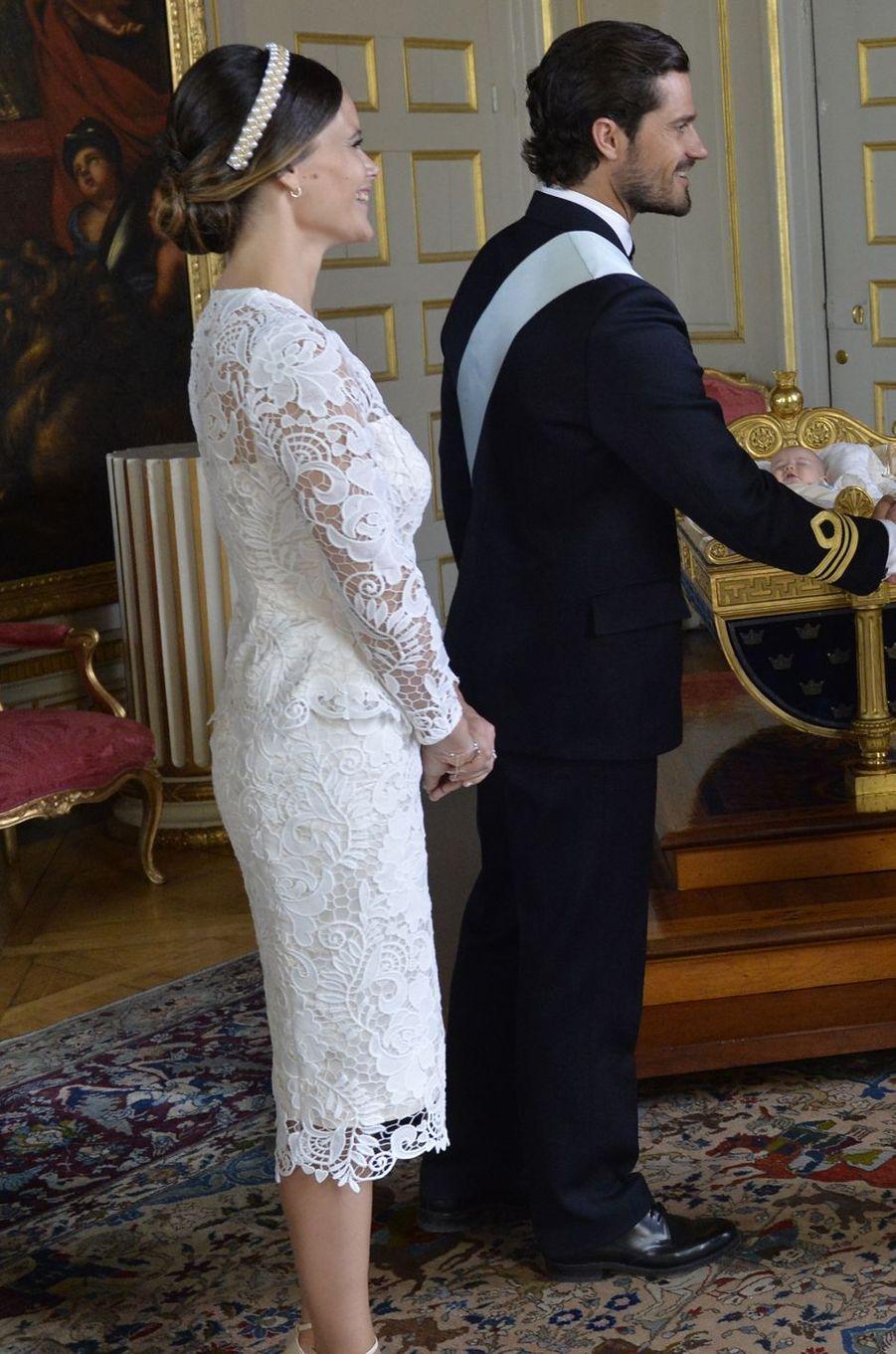 La princesse Sofia de Suède avec le prince Carl Philip à Stockholm, le 9 septembre 2016