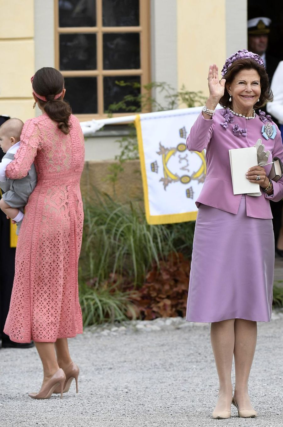 La reine Silvia de Suède à Stockholm, le 9 septembre 2016