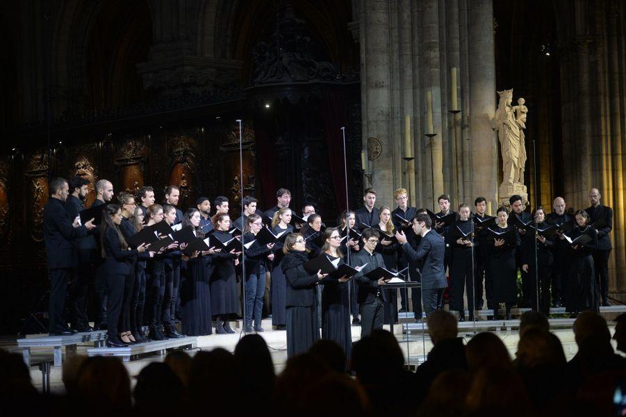 Le concert de la Sainte-Lucie, en présence du roi et de la reine de Suède, dans la cathédrale Notre-Dame de Paris, le 6 décembre 2016
