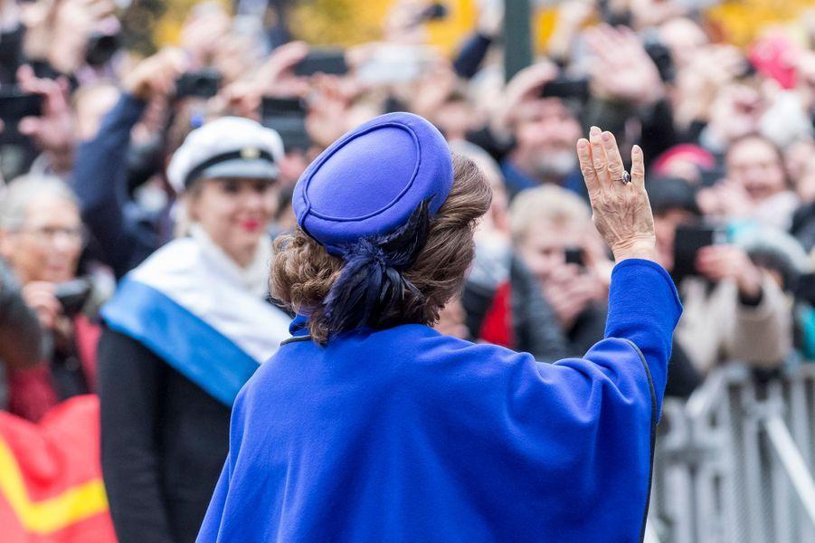 La reine Silvia de Suède à Lund, le 31 octobre 2016