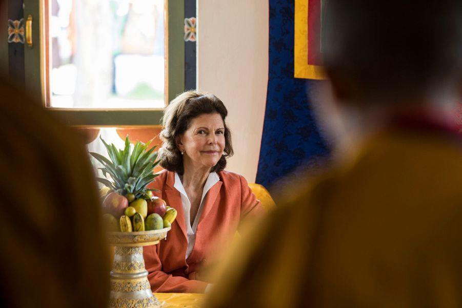 La reine Silvia de Suède à Wolokha, le 10 juin 2016