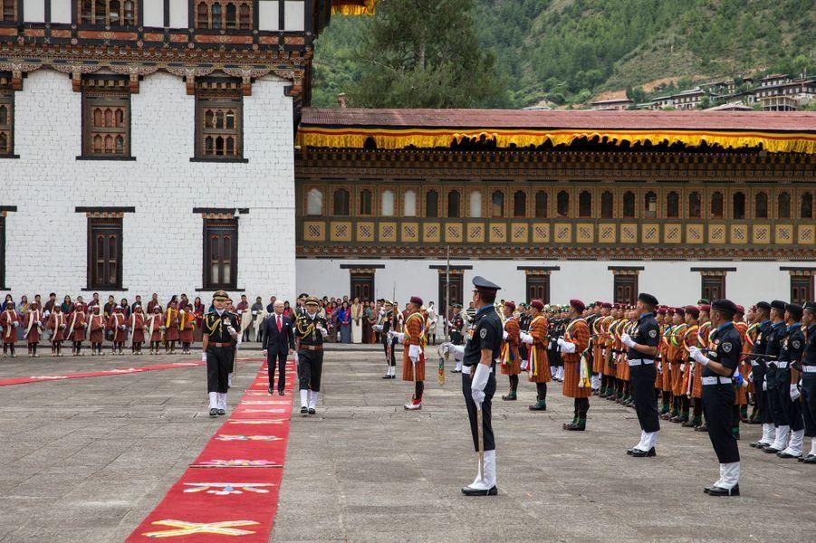 Le roi Carl XVI Gustaf de Suède à Thimphu, le 8 juin 2016