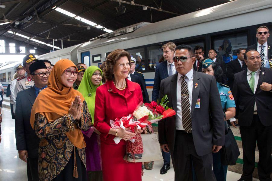 La reine Silvia de Suède à Bandung, le 24 mai 2017