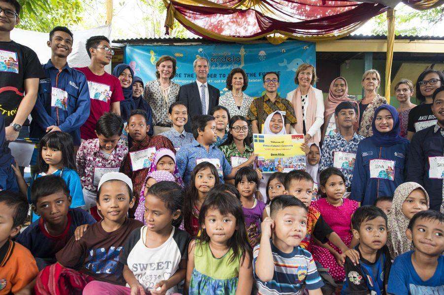 La reine Silvia de Suède à Jakarta, le 23 mai 2017