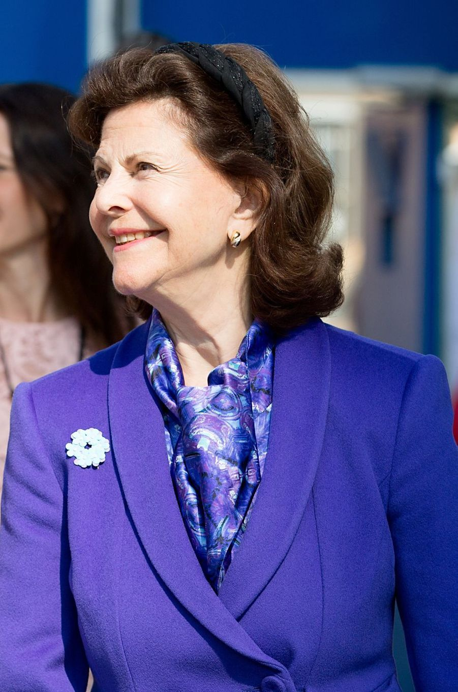 La reine Silvia de Suède à Stockholm, le 29 mai 2016