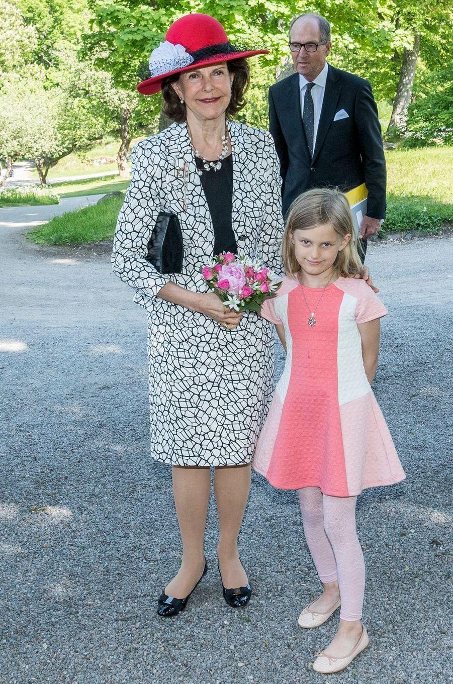 La reine Silvia de Suède à Stockholm, le 30 mai 2016