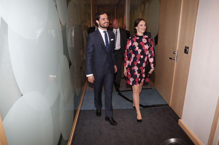 La princesse Sofia, née Hellqvist, et le prince Carl Philip de Suède à Solna, le 7mai 2017