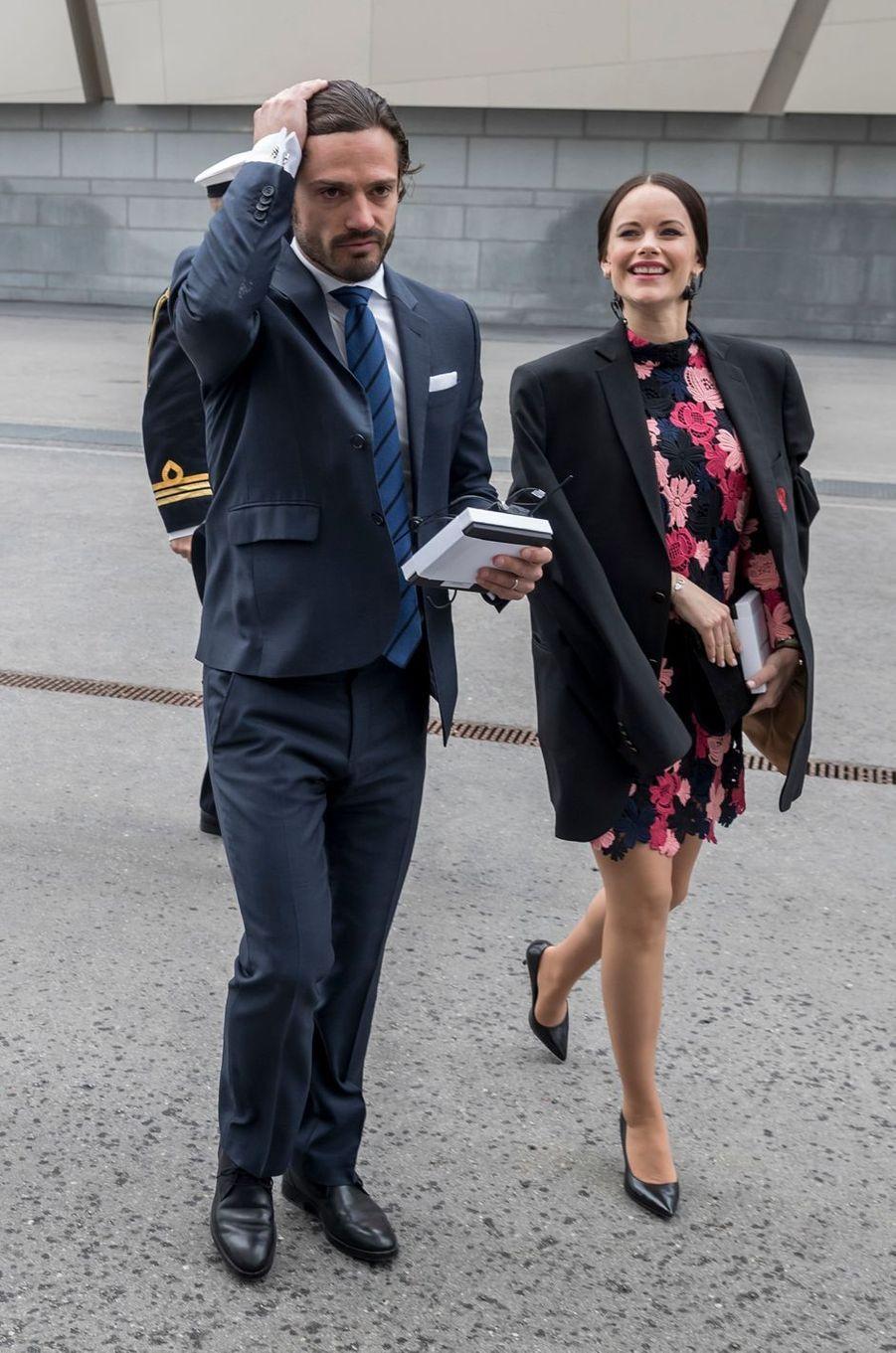 La princesse Sofia et le prince Carl Philip de Suède à Solna, le 7mai 2017