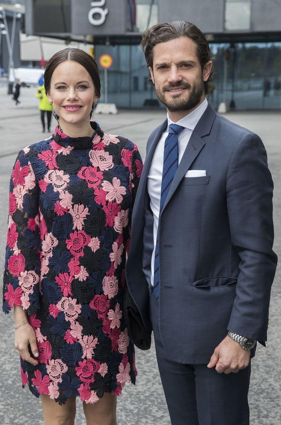 La princesse Sofia et le prince Carl Philip de Suède à Solna aux portes de Stockholm, le 7mai 2017