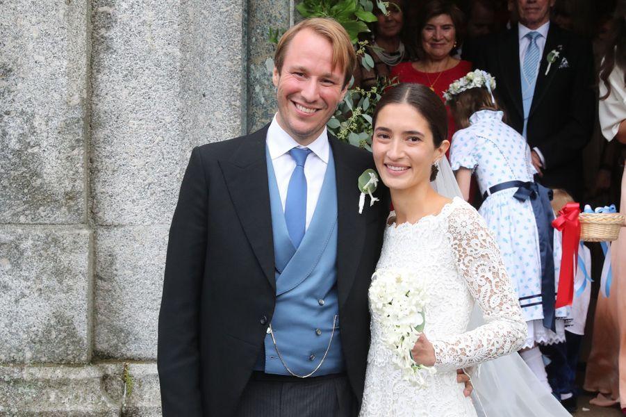 Le prince Konstantin de Bavière et Deniz Kaya à St Moritz, le 1er septembre 2018