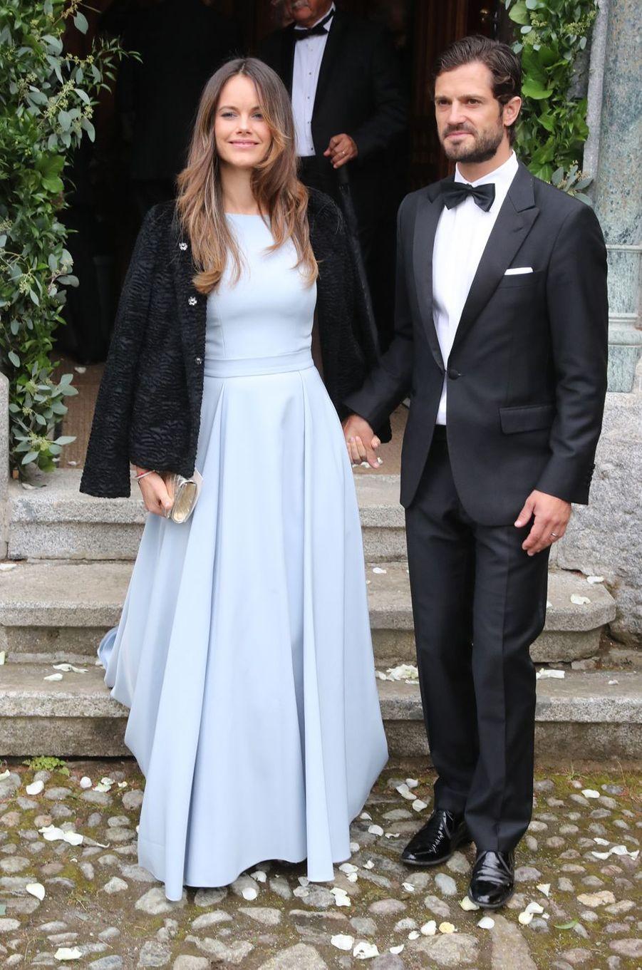 La princesse Sofia et le prince Carl Philip de Suède à St Moritz, le 1er septembre 2018