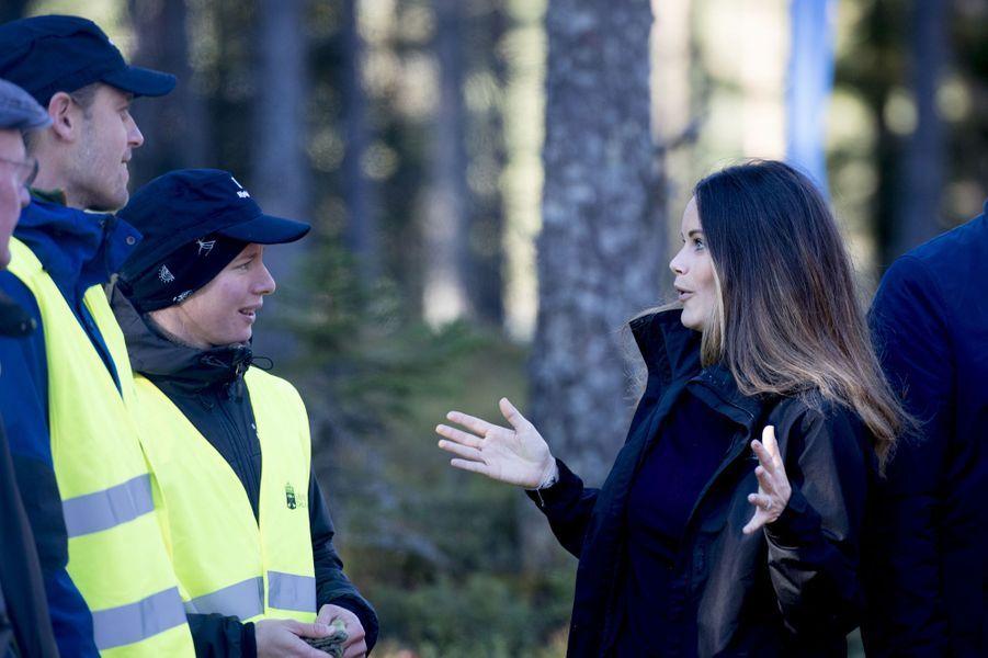 La princesse Sofia de Suède à Dalarna, le 30 septembre 2016