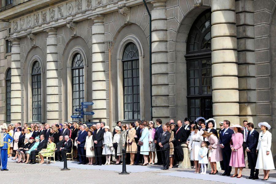 La famille royale de Suède et ses invités à Stockholm, le 30 avril 2016