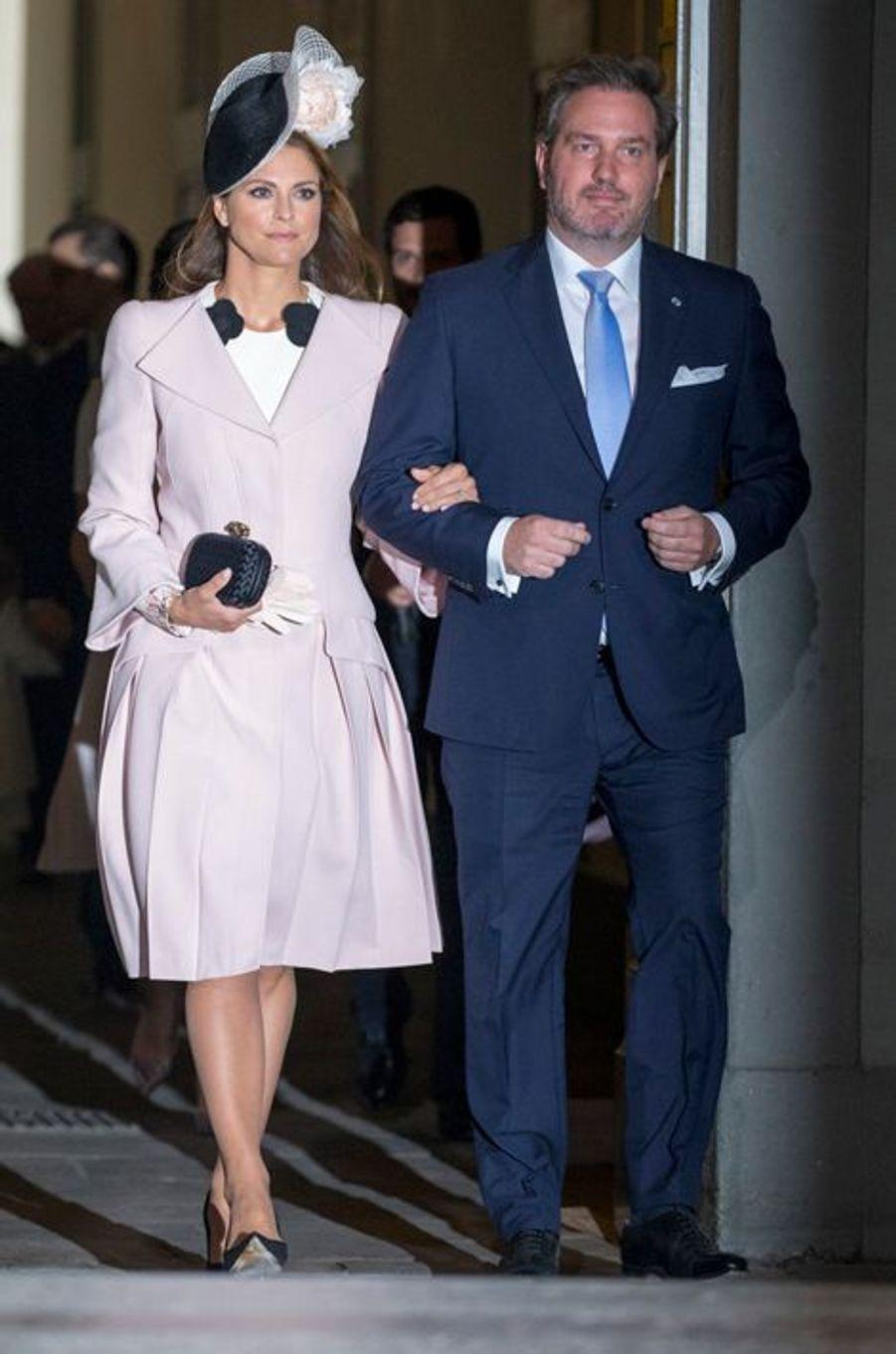 La princesse Madeleine de Suède et son mari Christopher O'Neill à Stockholm, le 30 avril 2016