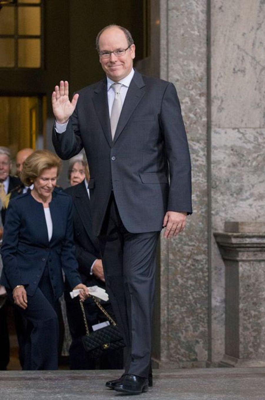 Le prince Albert II de Monaco à Stockholm, le 30 avril 2016