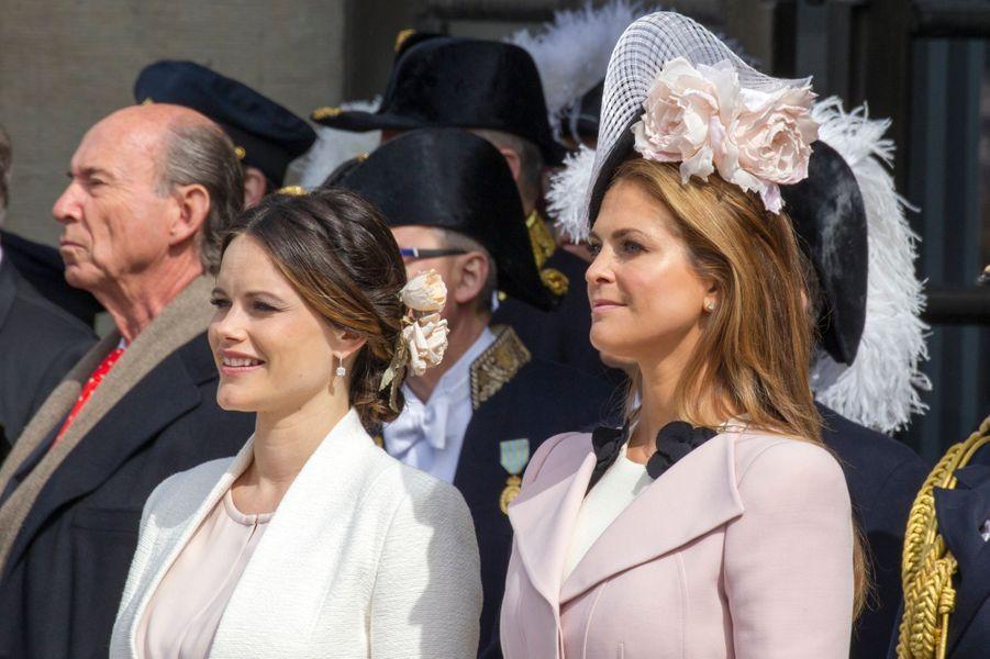 Les princesses Sofia et Madeleine de Suède à Stockholm, le 30 avril 2016