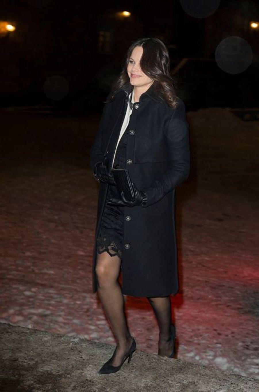 La princesse Sofia de Suède à l'hôtel de ville de Sotckholm, le 21 janvier 2016