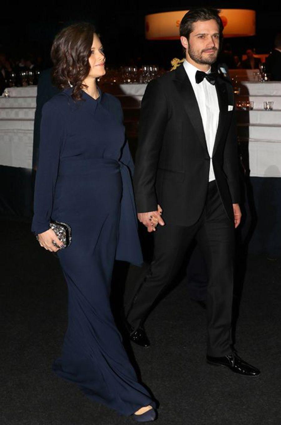 La princesse Sofia et le prince Carl Philip au Gala des sports à Stockholm, le 25 janvier 2016
