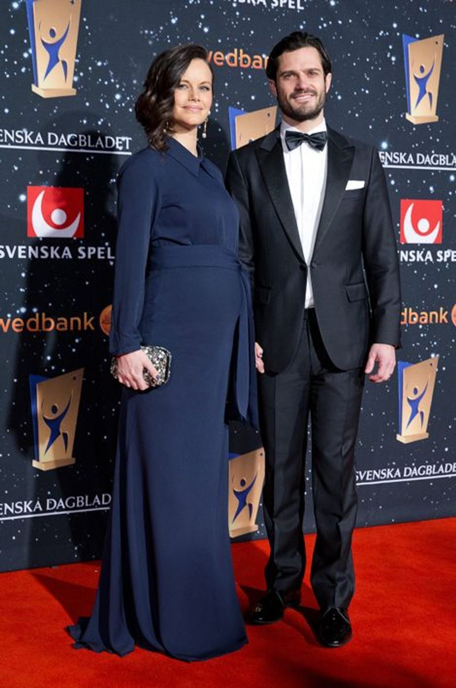 La princesse Sofia et le prince Carl Philip de Suède au Gala des sports à Stockholm, le 25 janvier 2016