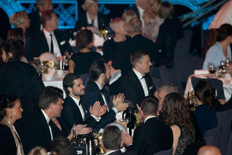 Le prince Carl Philip de Suède au Gala des sports à Stockholm, le 25 janvier 2016