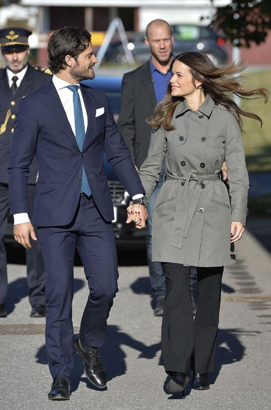 La princesse Sofia et le prince Carl Philip de Suède à Norrtalje, le 12 octobre 2015
