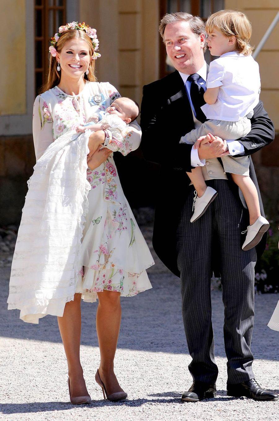 La princesse Madeleine de Suède dans une robe Giambattista Valli, le 8 juin 2018