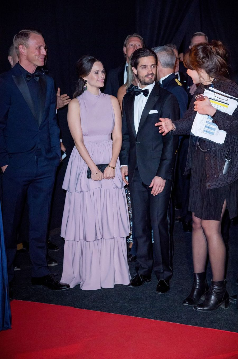 La princesse Sofia et le prince Carl Philip de Suède à Stockholm, le 15 janvier 2018