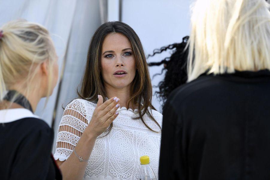 La princesse Sofia de Suède au LMLGA-festivalen à Stockholm, le 11 août 2018