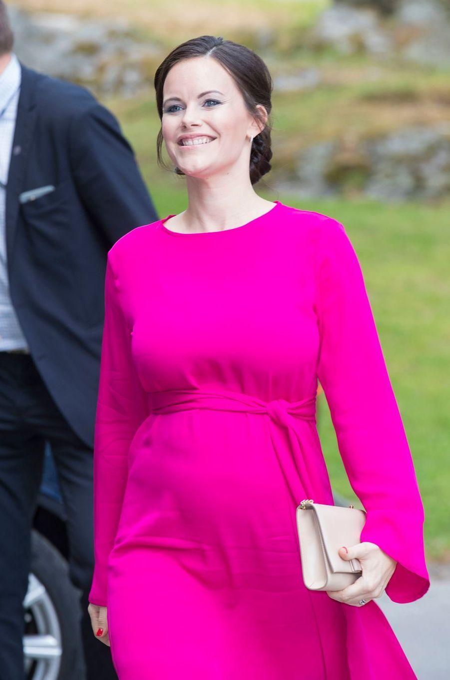 La princesse Sofia de Suède, enceinte de son deuxième enfant, à Stockholm, le 31 mai 2017