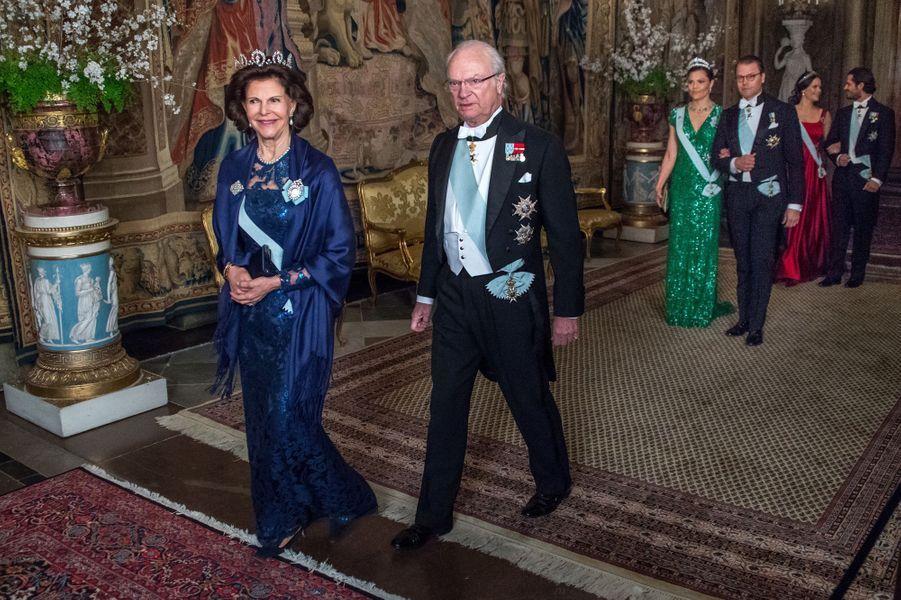 La famille royale de Suède au Palais royal à Stockholm, le 23 mars 2017