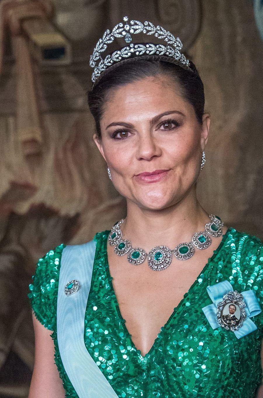 La princesse Victoria de Suède au Palais royal à Stockholm, le 23 mars 2017
