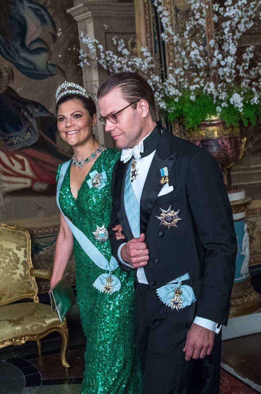 La princesse Victoria et le prince Daniel de Suède au Palais royal à Stockholm, le 23 mars 2017