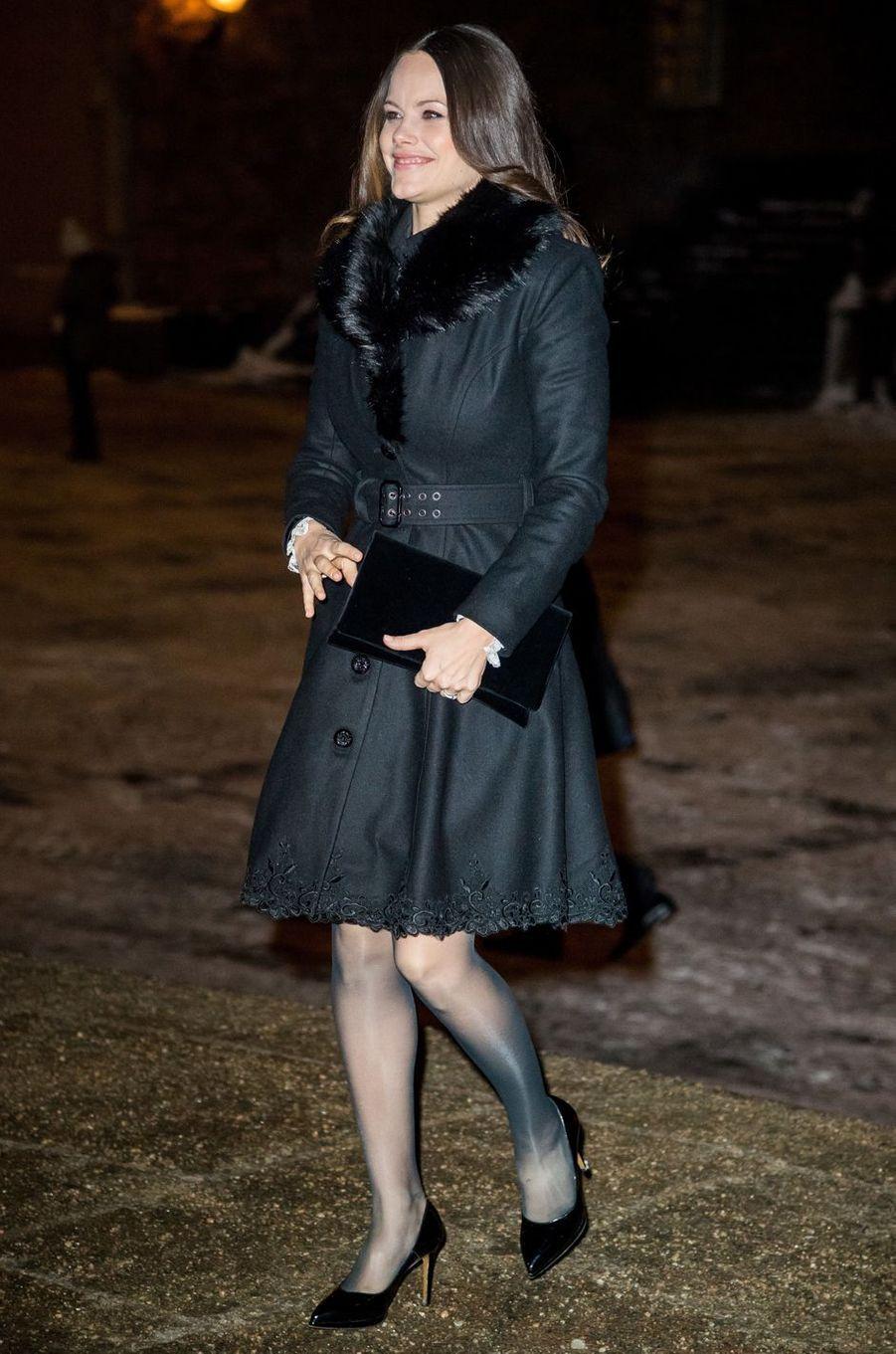 La princesse Sofia de Suède, née Hellqvist, à Stockholm, le 18 janvier 2018