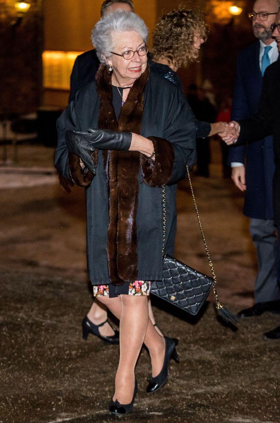 La princesse Christina de Suède à Stockholm, le 18 janvier 2018