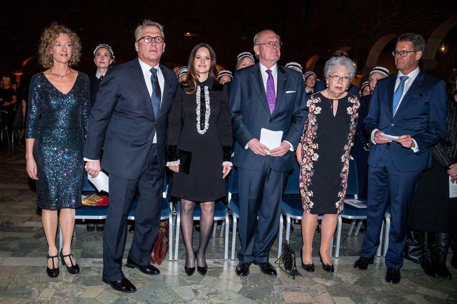 Les princesses Sofia et Christina de Suède à l'Hôtel de Ville de Stockholm, le 18 janvier 2018