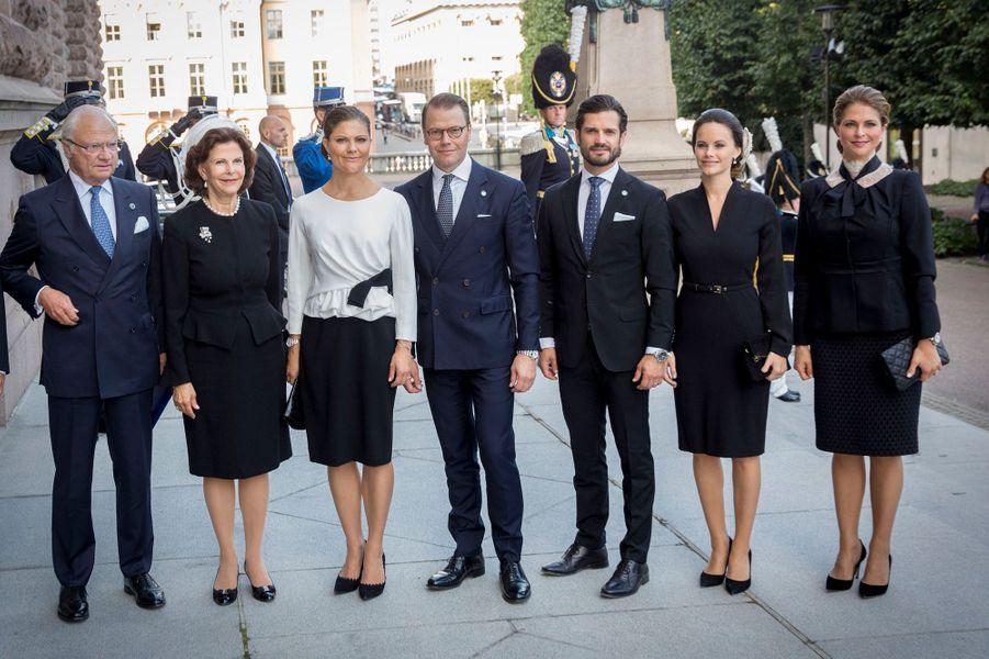 La famille royale de Suède à Stockholm, le 13 septembre 2016