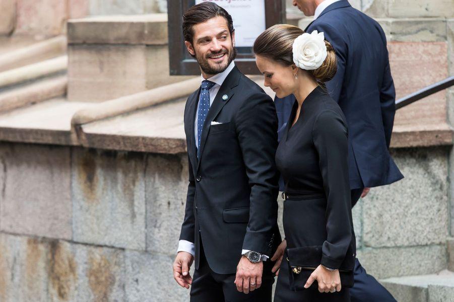 La princesse Sofia et le prince Carl Philip de Suède à Stockholm, le 13 septembre 2016