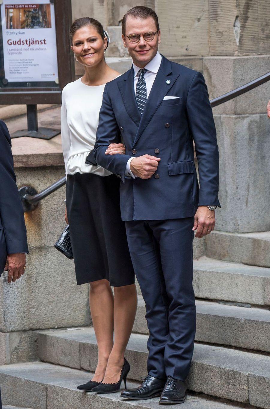 La princesse Victoria de Suède et le prince Daniel à Stockholm, le 13 septembre 2016