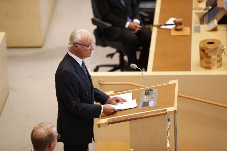 Le roi Carl XVI Gustaf de Suède à Stockholm, le 13 septembre 2016