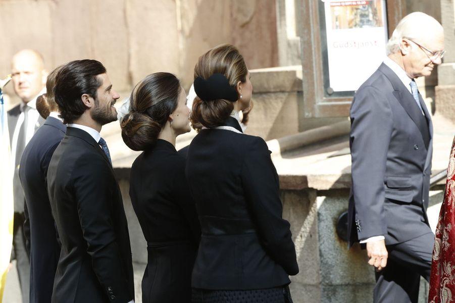 Les princesses Madeleine et Sofia, le prince Carl Philip et le roi Carl XVI Gustaf de Suède à Stockholm, le 13 septembre 2016