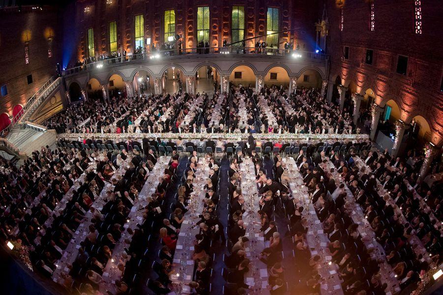Le banquet des Nobel dans l'Hôtel de ville de Stockholm, le 10 décembre 2016