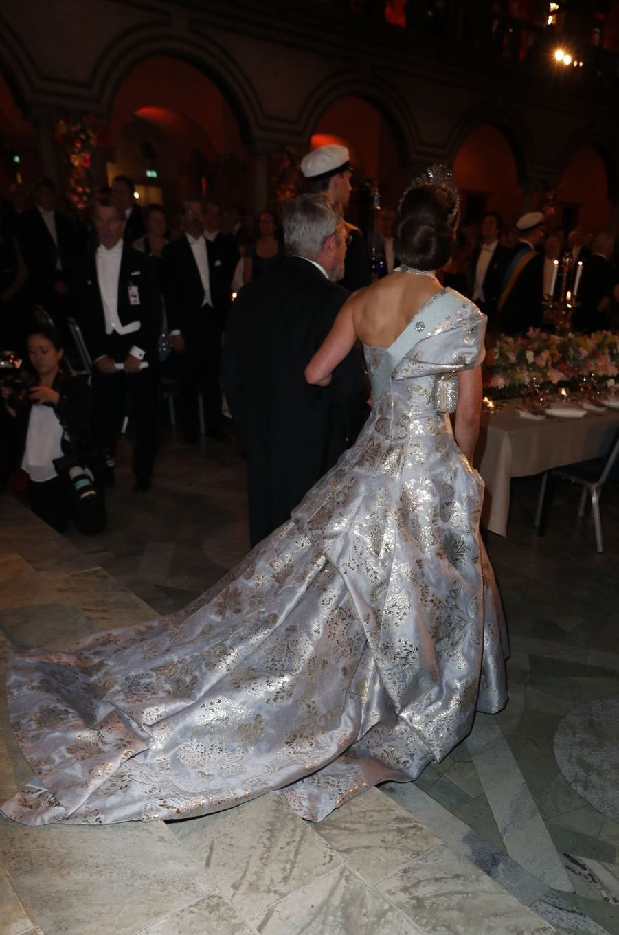 La princesse Victoria de Suède au banquet des Nobel à Stockholm, le 10 décembre 2016