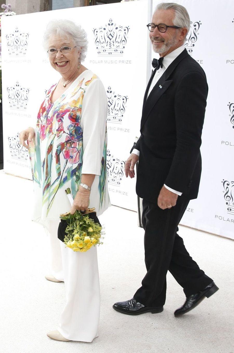 La princesse Christina de Suède et son mari Tord Magnuson à Stockholm, le 16 juin 2016
