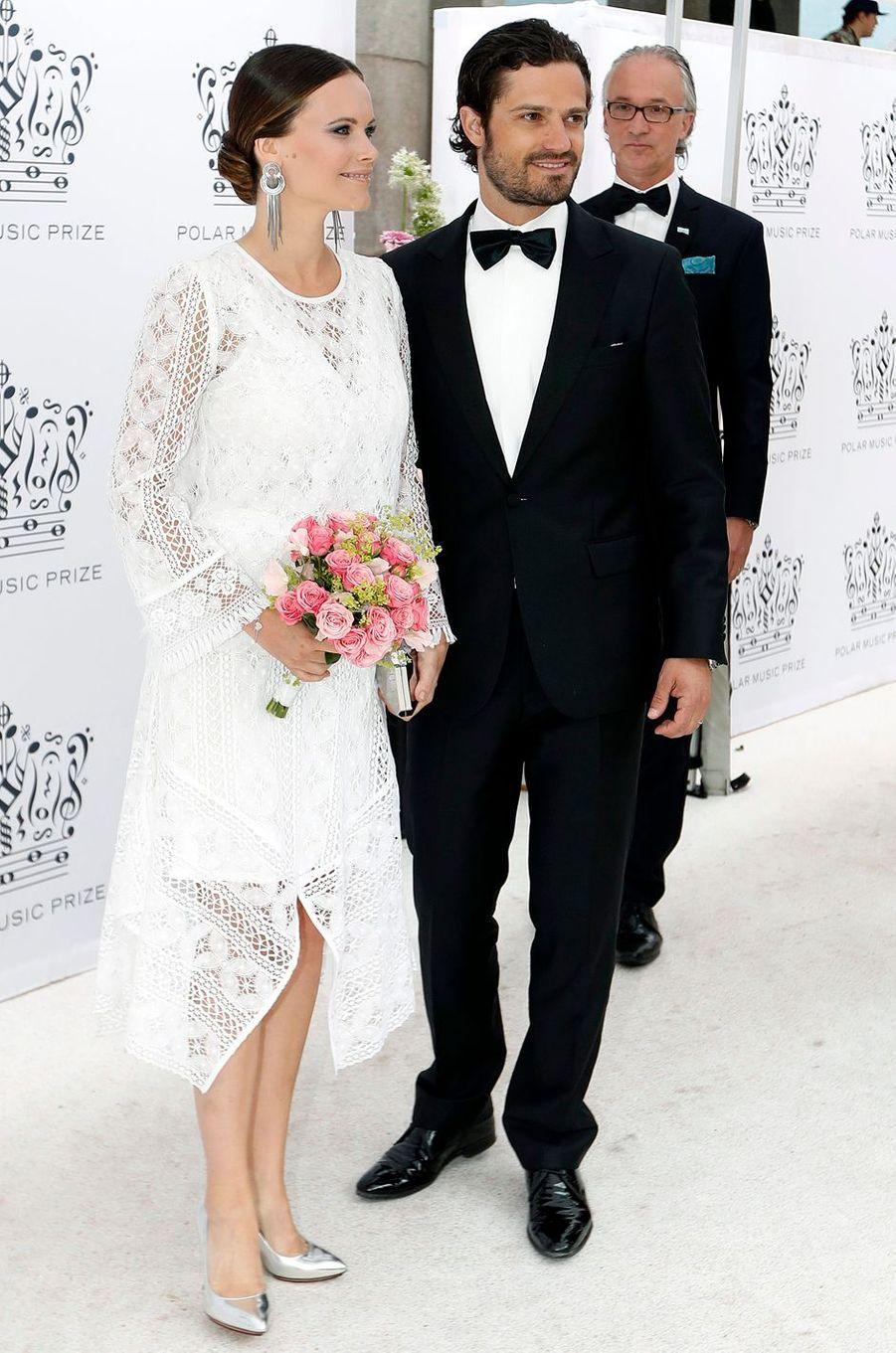 La princesse Sofia et le prince Carl Philip de Suède à Stockholm, le 16 juin 2016
