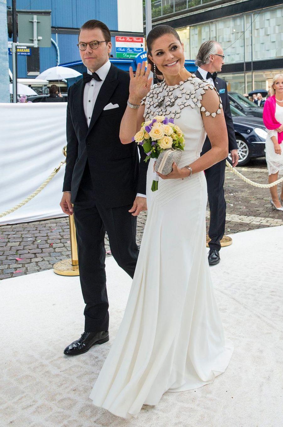 La princesse Victoria de Suède et le prince consort Daniel à Stockholm, le 16 juin 2016