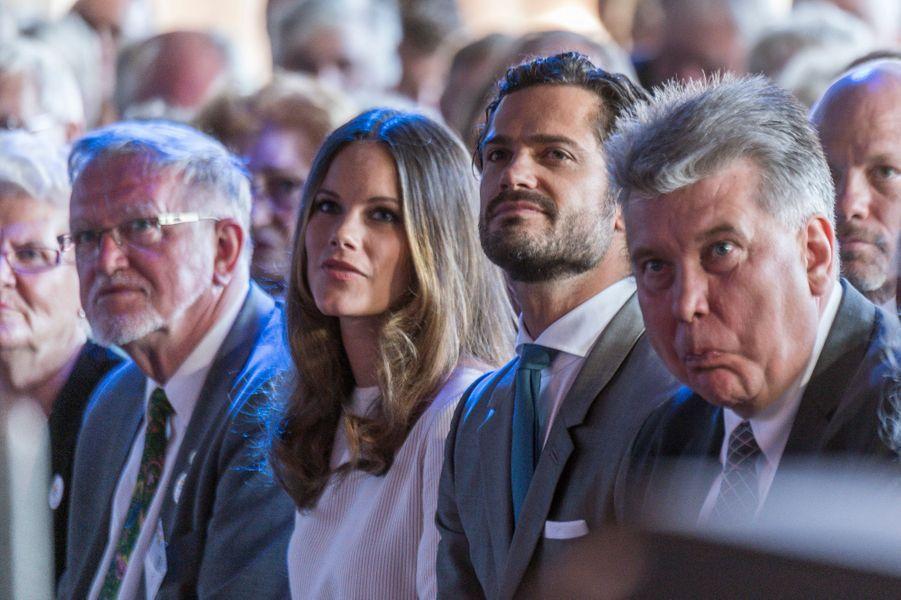 La princesse Sofia et le prince Carl Philip de Suède à Stockholm, le 27 août 2016