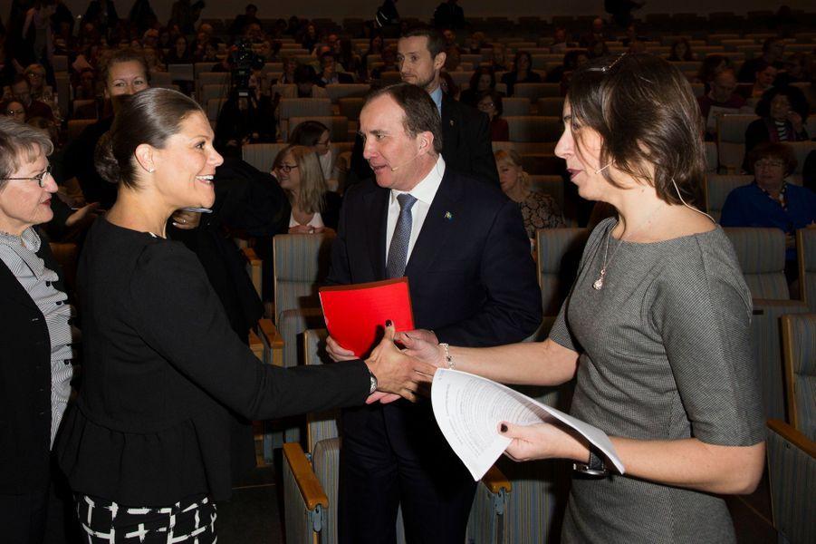 La princesse Victoria de Suède à Stockholm, le 18 janvier 2016